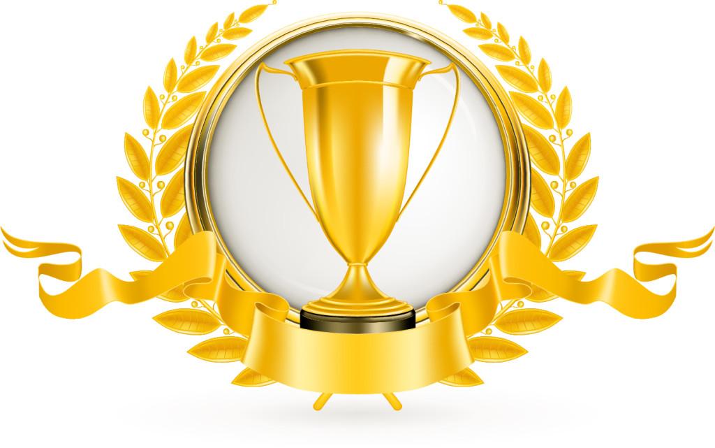金銀銅に輝くトロフィー+Golden+Silver+bronze+trophy+vector+イラスト素材1